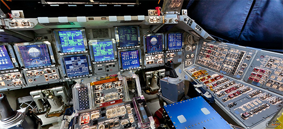 Space Shuttle Discovery 360° VR Cockpit Panorama