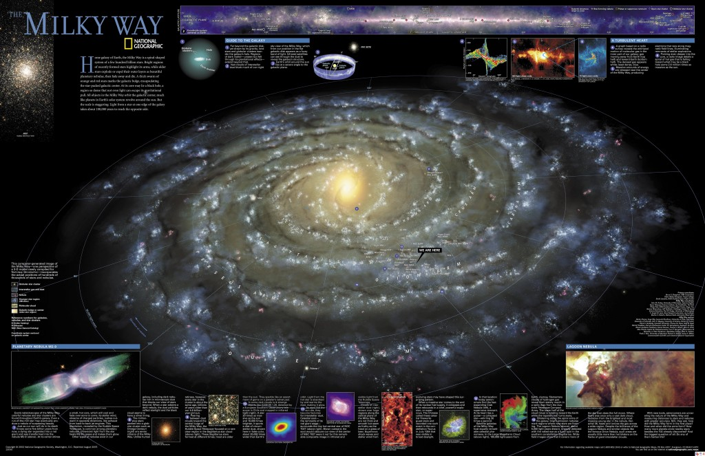 National Geographic Milky Way Reference Map - Click for Large Image